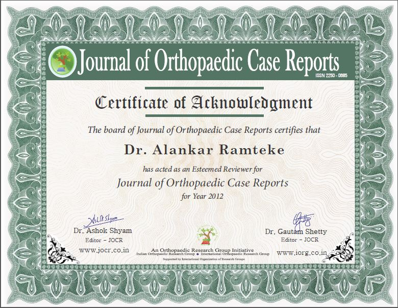 Jocr reviewers journal of orthopaedic case reports here for certificate sample yelopaper Choice Image